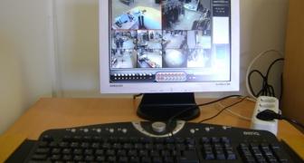 Установка системы видеонаблюдения на 16 видеокамер