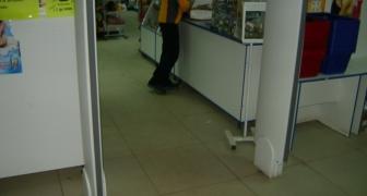 Монтаж СЗК в супермаркете ЧК
