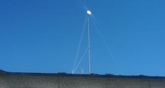 Монтаж телескопической мачты