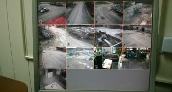 Монтаж IP видеонаблюдения на предприятии.